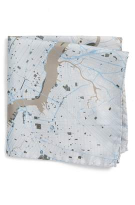 Eton Subway Map Silk Pocket Square