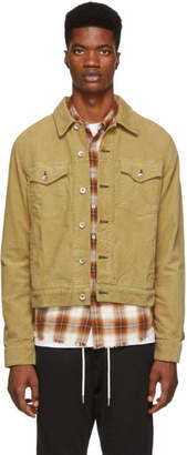 Rag & Bone Tan Corduroy Definitive Jean Jacket