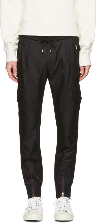 Paul SmithPaul Smith Black Multi-Pocket Cargo Pants