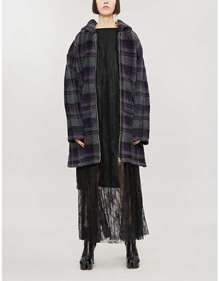 MM6 MAISON MARGIELA Checked hooded jersey coat