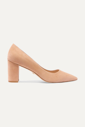 Stuart Weitzman Laney Suede Pumps - Neutral