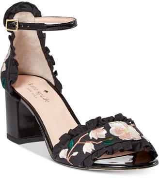 Kate Spade Wayne Embroidered Dress Sandals