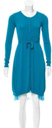 Twin-Set Twin.Set Lace Trimmed Knit Dress