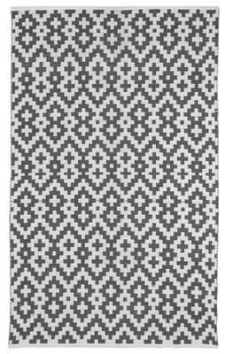 Fab Habitat Zen Samsara Cotton Charcoal Gray/White Area Rug Fab Habitat