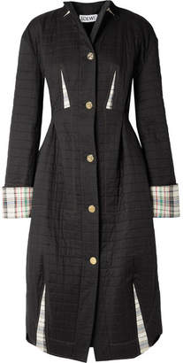 Loewe Quilted Cotton Coat - Black