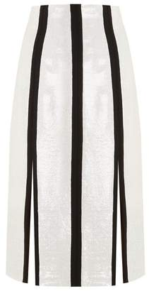Diane von Furstenberg High Rise Sequin Embellished Midi Pencil Skirt - Womens - Black White