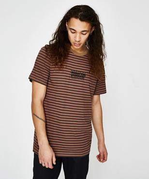 Santa Cruz Line Up Stripe T-shirt Dark Sand