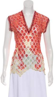 Jean Paul Gaultier Sleeveless Printed Top