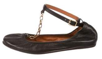 Lanvin Leather T-Strap Flats