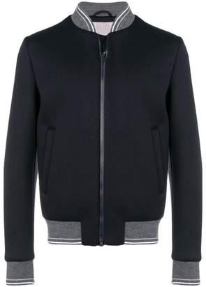 Herno contrast trim bomber jacket