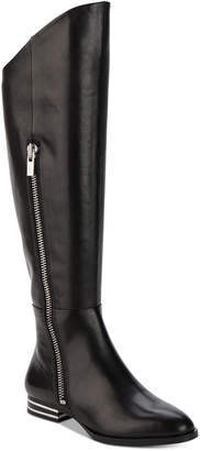 DKNY Lolita Silver-Heeled Boots