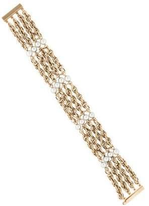 14K Multistrand Pearl Chain Bracelet