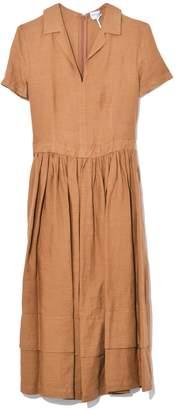 a65478d6b94 Aspesi Short Sleeve Linen Dress in Tobacco
