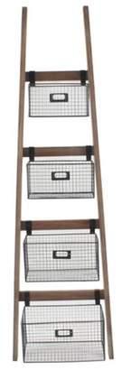 Gracie Oaks Tallulah Wall Shelf Ladder Bookcase