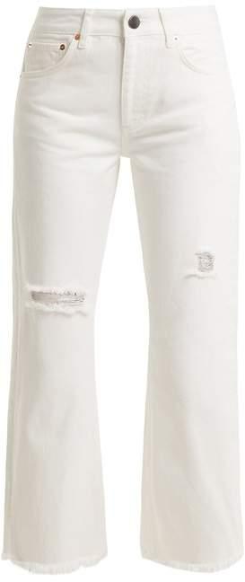 Max asymmetric-hem wide-leg jeans