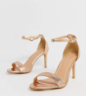 d1ac4937833b Barely There Simply Be Extra Wide Fit Simply Be extra wide fit Morgan heeled  sandal in
