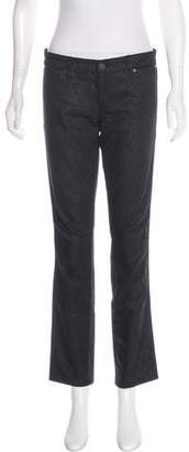 Tory Burch Printed Mid-Rise Jeans