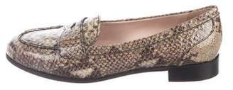 Miu Miu Embossed Round-Toe Loafers w/ Tags