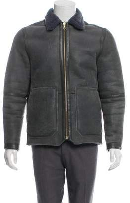 Paul Smith Red Ear Leather Reversible Faux-Fur Jacket