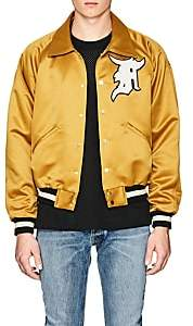 Fear Of God Men's Appliquéd Satin Bomber Jacket - Gold