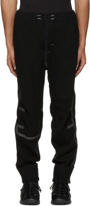 Y-3 SPORT Black Wool Lounge Pants $690 thestylecure.com