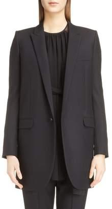 Saint Laurent Long Gabardine Tuxedo Blazer