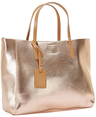 SANDLER Billi Rose Gold Metallic Tote Bag