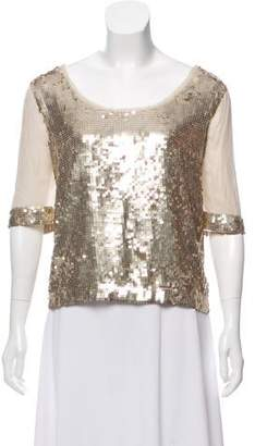 Robert Rodriguez Silk Sequins Top