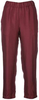 Raquel Allegra polka dot silk trousers