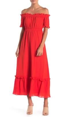 Cynthia Steffe CeCe by Vivian Off-the-Shoulder Maxi Dress