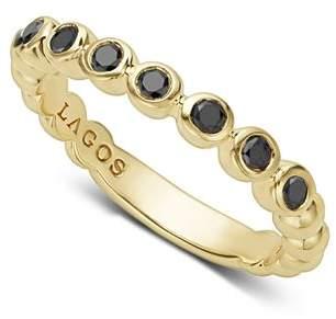 Lagos Gold & Black Caviar Collection 18K Gold & Black Diamond Ring