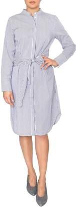 Just Female Blue Stripe Shirtdress