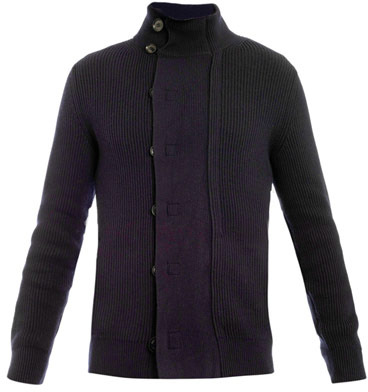 Zegna Double-breasted ribbed-knit cardigan