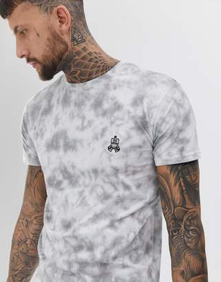 Co Brooklyn Supply Brooklyn Supply robot embroidered tie dye t-shirt