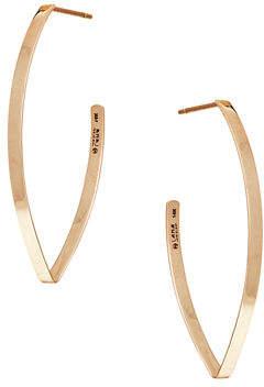 Lana Small Flat Blake Hoop Earrings