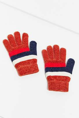 Urban Outfitters Chenille Striped Glove
