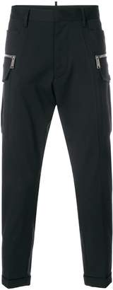 DSQUARED2 zip-embellished cropped trousers