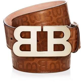 Bally Logo Embossed Leather Belt