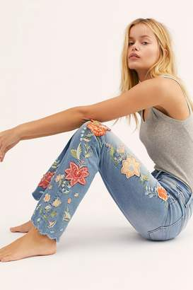 Driftwood Eva Embroidered Flare Jeans