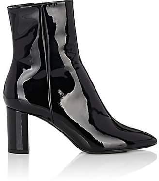 Saint Laurent Women's Loulou Patent Leather Ankle Boots - Black
