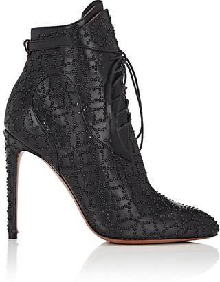 Alaia Women's Studded Lace-Up Ankle Boots