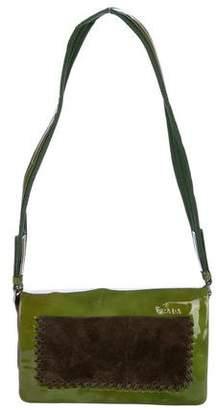 Prada Vernice Infilat Flap Bag