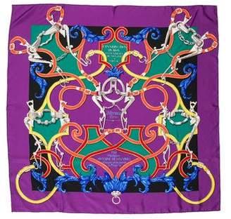 Hermes L'Instruction Du Roy Silk Scarf