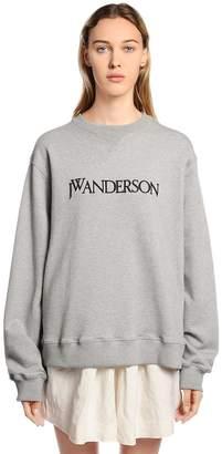J.W.Anderson Logo Embroidered Cotton Sweatshirt