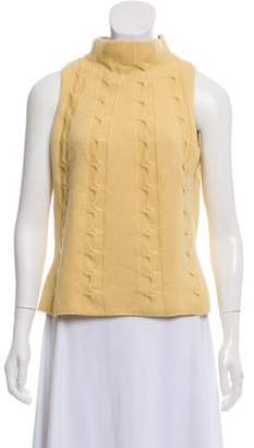 Sleeveless Cable Knit Sweater - ShopStyle 45dbb923c