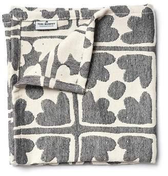 Tori Murphy Bloom Cotton Single Napkin In Black