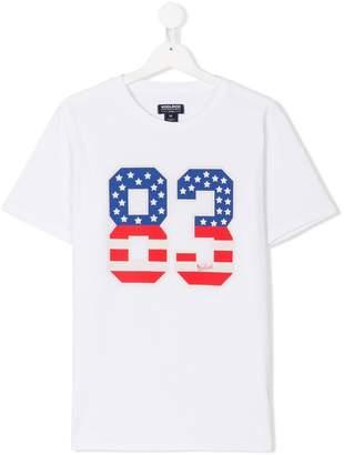 Woolrich Kids TEEN number print T-shirt