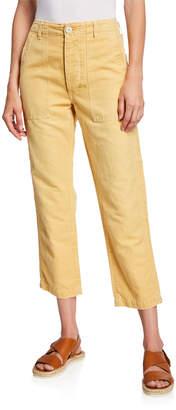 Amo Denim Army Cropped High-Rise Pants