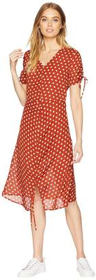 J.o.a. Ruched Midi Dress Women's Dress
