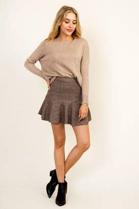 Olivaceous Frill Grey Skirt